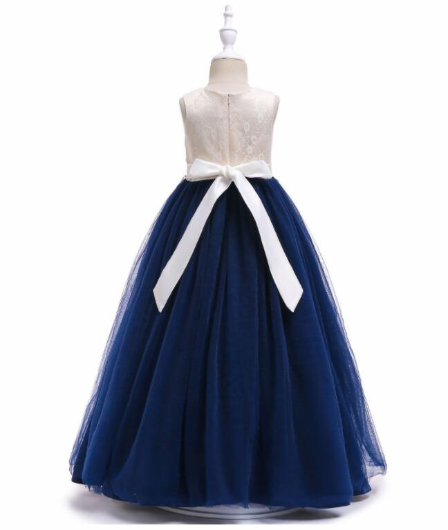 Flower Girl Dress Appliqued Tulle A Line Dance Skirts Vintage Children Party  image 5