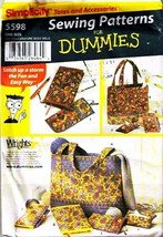 2003 Totes & Accessories SEWING for DUMMIES Pattern 5598-s UNCUT - $10.00
