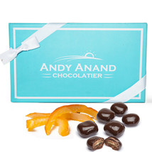 Andy Anand Vegan Dark Chocolate Covered Orange Peel Gift Box With Free Air Ship - $26.84