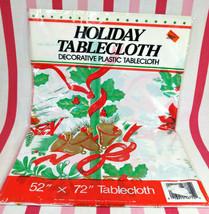 Fabulous Vintage New Old Stock Atomic Starburst Christmas Plastic Tablec... - $16.00