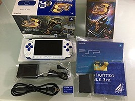 Monster Hunter Portable 3RD Special Model WHITE/BLUE PSPJ-300021 Japan F/S Used - $259.69