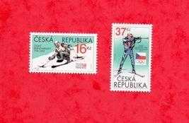 2018 CZECH PARALYMPIC & OLYMPIC TEAM STAMP # CZECH REPUBLIC# 2018 Winter... - $4.29