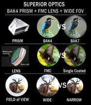 12X50 High Power Prism Monocular Scope, Smartphone Holder, & Handheld Tripod Kit image 6