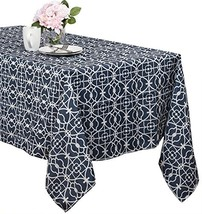 Benson Mills Geo Indoor/outdoor Spillproof Tablecloth blue, 60-inch by 8... - $28.49