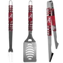 alabama crimson tide college football 3 piece tailgater bbq set stainles... - $45.12