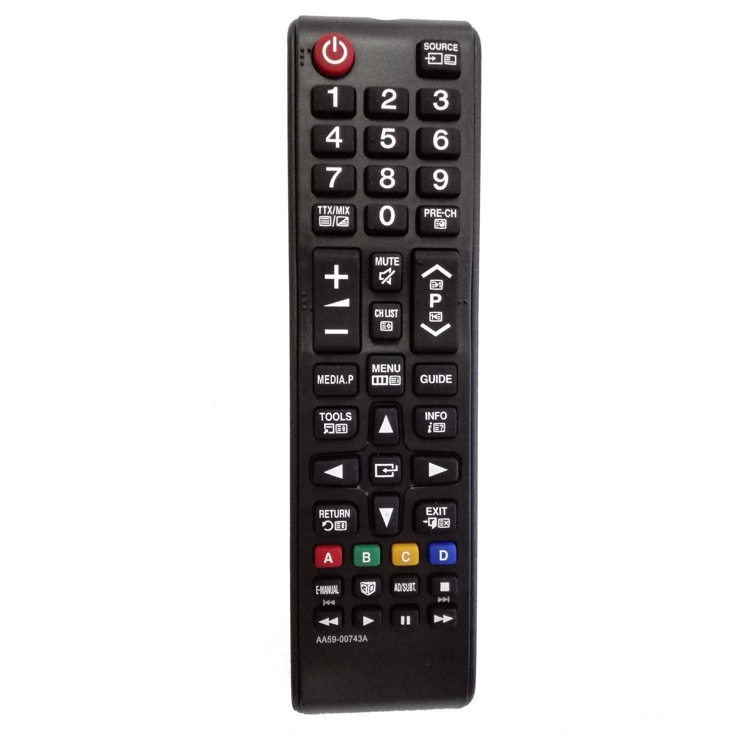 AA59-00743A Remote Control for Samsung BN59-00857A AA59-00580A AA59-00600A