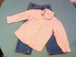 Girls-Lot of 2-Levi's-jeans-Size 4T-blue -Old Navy-pink blouse-rodeo-Western - $14.50