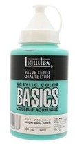 Liquitex acrylic paints Liquitex Basics bright aqua green B-033 400ml - $25.15