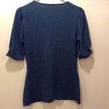 Banana Republic Light Weight V-Neck Short Sleeve Shirt Sz M image 4