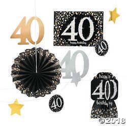 40th Birthday Sparkling Celebration Decorating Kit