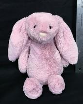 "Jellycat Bashful Bunny Rabbit Dusty Rose Pink Medium 12"" Plush Stuffed A... - $12.95"
