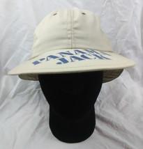 Panama Jack Safari Hat Ball Cap Beige Blue Rare Vintage Vtg 1984 1980s - $49.49