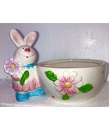 Bunny CANDY DISH Fine China Pastel  Bunny  EASTER - $29.58
