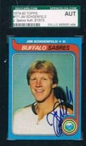 1979-80 Topps #171 Jim Schoenfeld Sabres JSA Auto - $19.75
