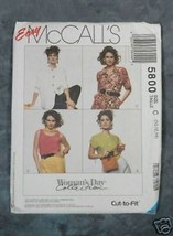 McCall's #5800 Misses' Blouses & Tank Top - $2.00