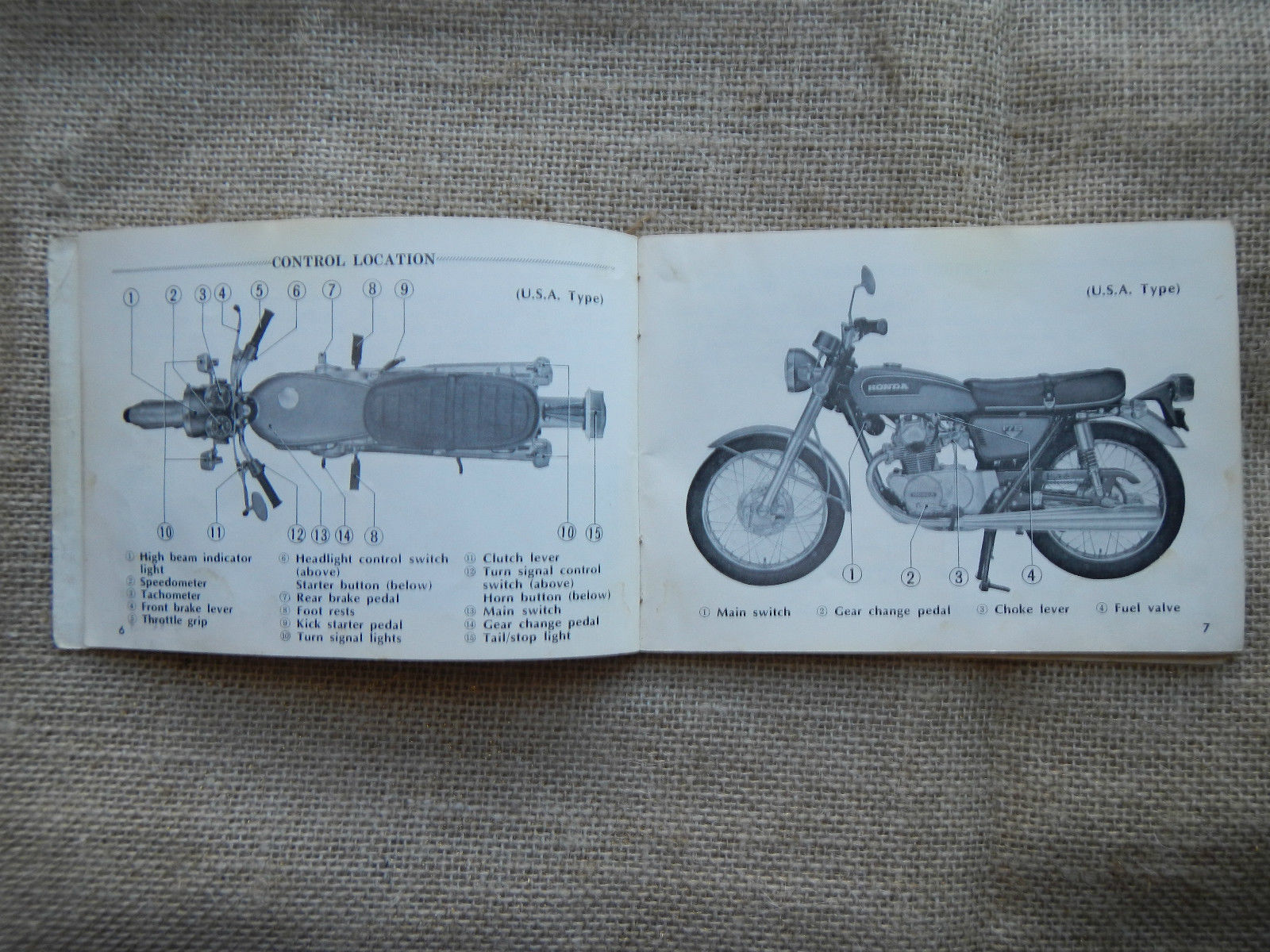 72 Cb175 Wiring Diagram Diagrams Schematics Honda Cl360 1972 Cb 175 K6 K 6 Owner And 50 Similar Items Owners Manual