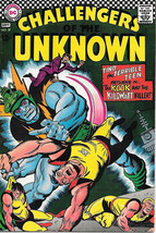Challengers of the Unknown Comic Book #57, DC Comics 1967 VERY FINE - $31.85