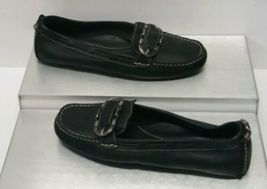 Cole Haan Black Leather Mocas Buckle Strap Loafer Women's 8 B Driving Shoes image 3