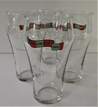 4 Give Live Love Coke Coca-Cola Glasses 2005 Holiday Red Green Christmas... - $29.69