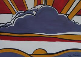 """Roy Lichtenstein """"Sunrise"""" HD print on canvas huge wall picture 30x20"""" - $24.74"""