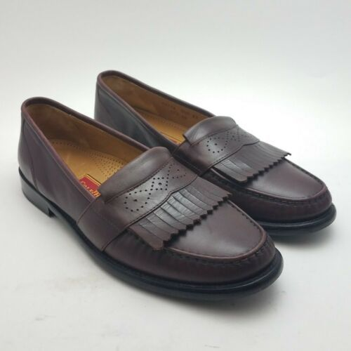 Primary image for Cole Haan City Loafers Mens Leather Kiltie Slip On Burgundy Dress Shoes Sz 9.5 M