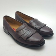 Cole Haan City Loafers Mens Leather Kiltie Slip On Burgundy Dress Shoes ... - $27.87