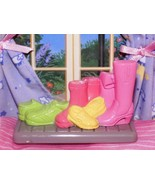 Fisher Price Loving Family Dream Dollhouse Mudroom Laundry Shoes Boots Mat - $2.22