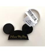 Walt Disney World Mickey Mouse Ears I Love My Dog Metal Keychain NEW - $16.90