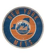 "MLB New York Mets 12"" Retro Circle Wood Sign Man Cave Bar Decor  - $17.77"