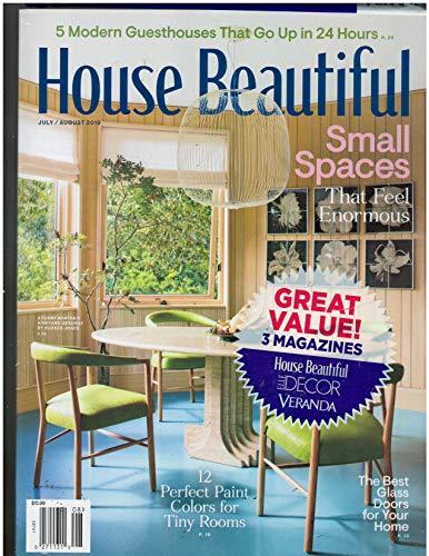 House Beautiful Elle Decor Veranda Magazine 3 Pack July August 2019 [Single Issu - Books