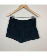 Banana Republic Lace Shorts 2P Womens Black Geometric Lined 100% Cotton ... - $24.08
