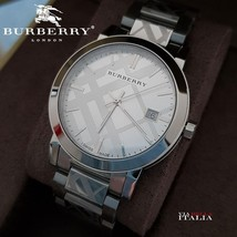 Burberry BU9037 The City Silver Tone 38mm - RRP 695 USD - 2 Years Warranty - $298.00