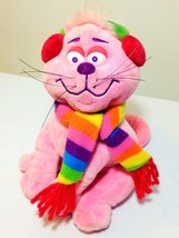 Commonwealth Pink Cat Plush Kitten RARE Stuffed Animal w Earmuffs Scarf ... - $39.99