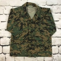 "US Army Fatigue Jacket Sz S Upto 32"" Chest Digital Camoflague Button Up - $14.84"