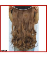 "MEDIUM GOLDEN BROWN #27 HAIR EXTENSIONS HALO STYLE  20"" PRINCESS TRESSES - $31.68"