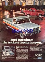 "1977 8 x 11 Original Color Print Ad Ford ""Trickest"" Trucks In Town FREE ... - $8.95"