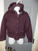 Lee Purple Sparkle Zip Up Hoodie Sweater Jacket Size 5 Girl's EUC - $16.00