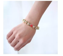 Emoji Charm Bracelet with 10 Gold Plated Charms - 1x w/Random Color and Design image 2