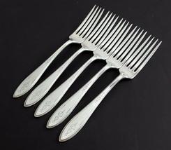 "1847 Rogers ARGOSY 5 Dinner/Luncheon Forks 7-1/4"" Silverplate 1926 - $18.81"