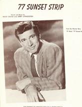 77 SUNSET STRIP - Sheet Music Warner Bros TV Show Efrem Zimbalist Edd By... - $14.99