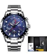 LIGE Brand Men's Fashion Watches Men Sport Waterproof Quartz Watch Man F... - $38.94