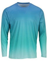 Sun Protection Long Sleeve Dri Fit Blue Mist Teal fade sun shirt UPF 50+ image 1