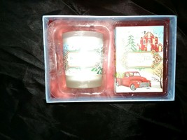 michel design works, Deck The Halls Soap and Candle Set, sweet Pine Scent. - $14.99