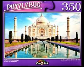 350 Piece Jigsaw Puzzle, Puzzlebug 18 in. x 11 in., Taj Mahal in Sunrise... - $4.99