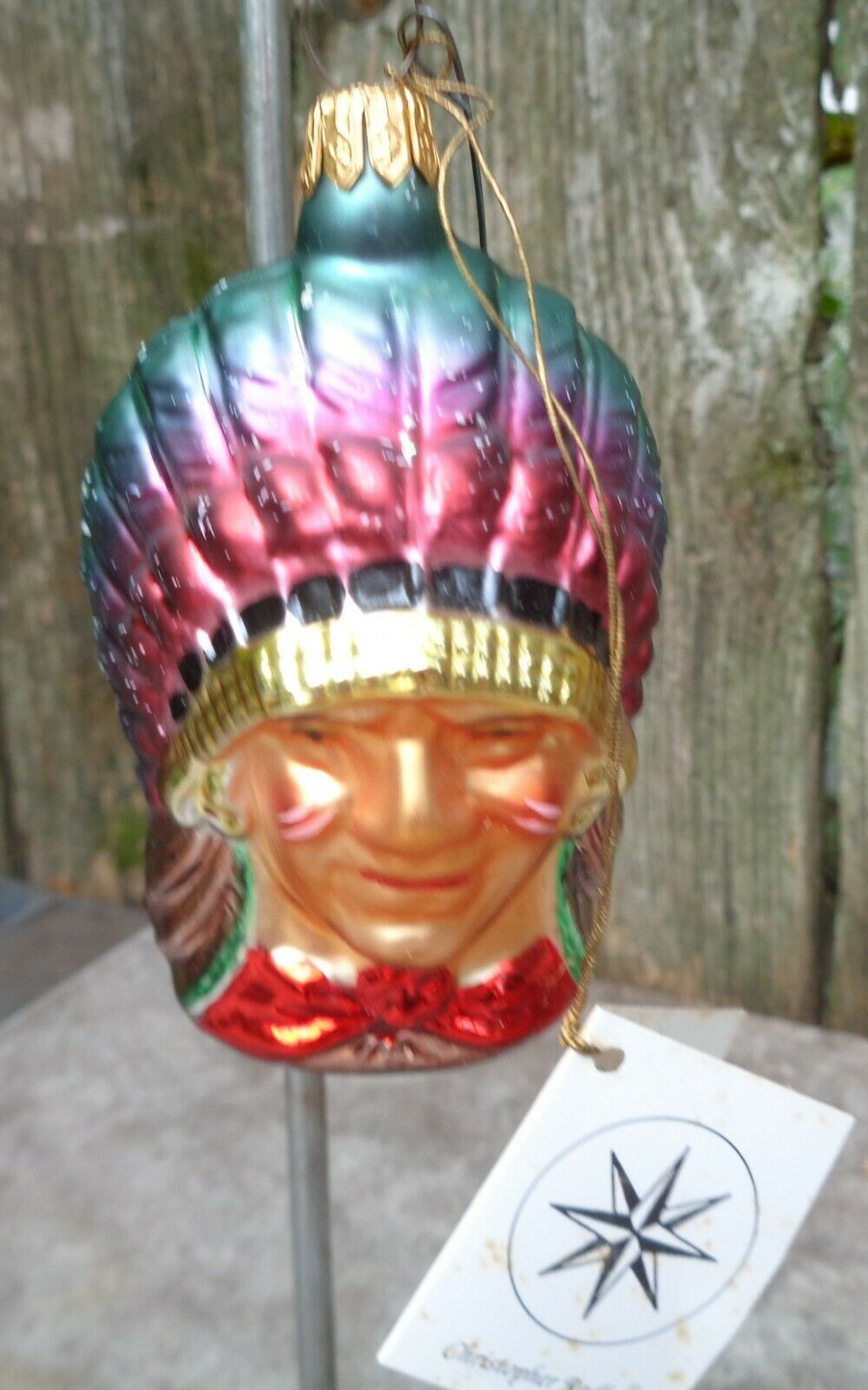"Primary image for Christopher Radko ""Indian Joe"" Christmas Ornament"