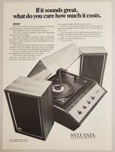 1970 Print Ad Sylvania MM12 Record Player & Air Suspension Speakers $99.95 - $11.56