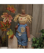 "Standing Scarecrow 13"" Farmer w/Hanger Fall Porch Home Office Primitive ... - $39.59"