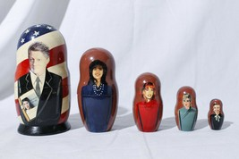 Bill Clinton Russian Matryoshka Nesting Doll Monika Lewinsky Paula Jones... - $48.26