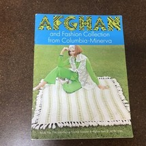 Vtg 1970 Afghan & Fashion Collection Columbia Minerva Pattern Book Croch... - $12.86