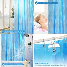Shower Curtain Liner Mildew Resistant Plastic w/ Hooks Magnets Bathroom ... - $18.95